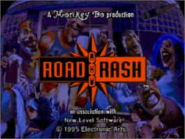 Title screen of Road Rash on the Sega CD.