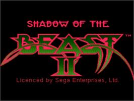 Title screen of Shadow of the Beast 2 on the Sega CD.