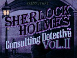 Title screen of Sherlock Holmes Consulting Detective: Volume 2 on the Sega CD.
