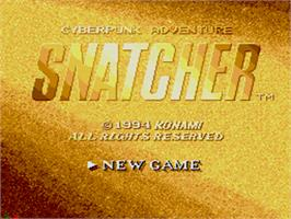Title screen of Snatcher on the Sega CD.