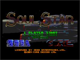 Title screen of Soulstar on the Sega CD.