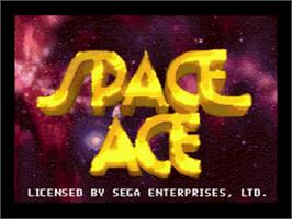 Title screen of Space Ace on the Sega CD.