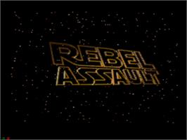 Title screen of Star Wars: Rebel Assault on the Sega CD.