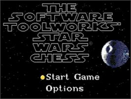 Title screen of Star Wars Chess on the Sega CD.