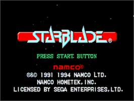 Title screen of Starblade on the Sega CD.