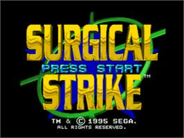 Title screen of Surgical Strike on the Sega CD.