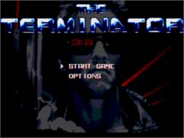 Title screen of Terminator on the Sega CD.