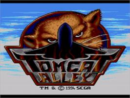 Title screen of Tomcat Alley on the Sega CD.