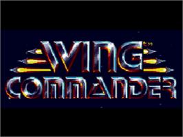 Title screen of Wing Commander on the Sega CD.
