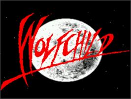 Title screen of Wolfchild on the Sega CD.
