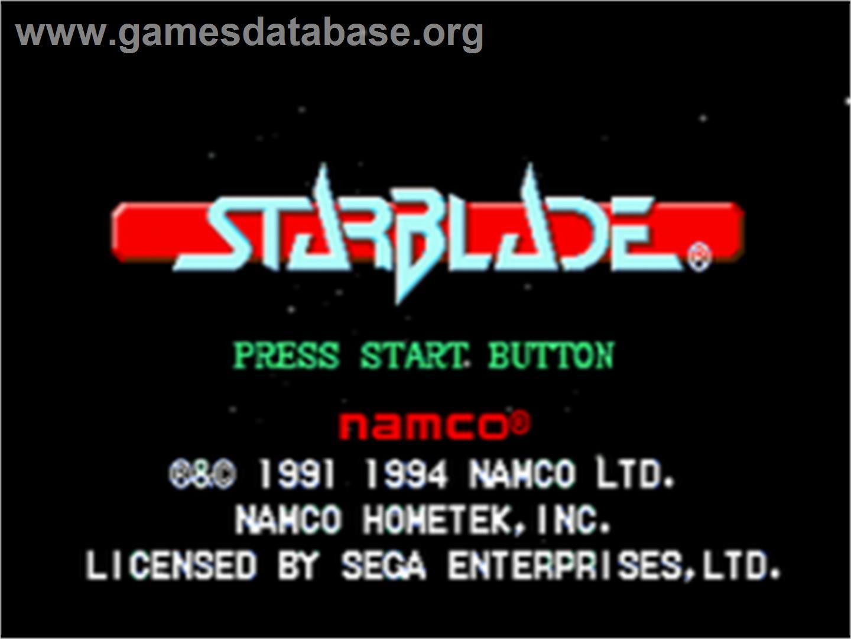 Title screen of Starblade on the Sega CD.