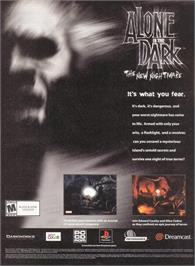 Advert for Alone in the Dark: The New Nightmare on the Sony Playstation 2.