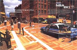 Advert for NBA 2K1 on the Sega Dreamcast.