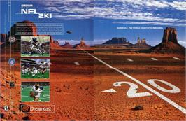 Advert for NFL 2K1 on the Sega Dreamcast.