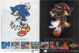 Advert for Sonic Adventure 2 on the Valve Steam.