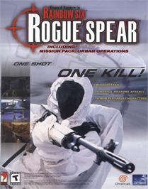 Advert for Tom Clancy's Rainbow Six: Rogue Spear on the Sony Playstation.