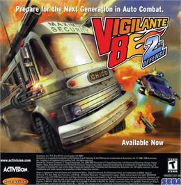 Advert for Vigilante 8: 2nd Offense on the Sony Playstation.