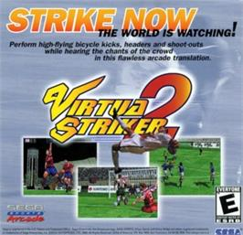 Advert for Virtua Striker 2 Ver. 2000 on the Sega Naomi.