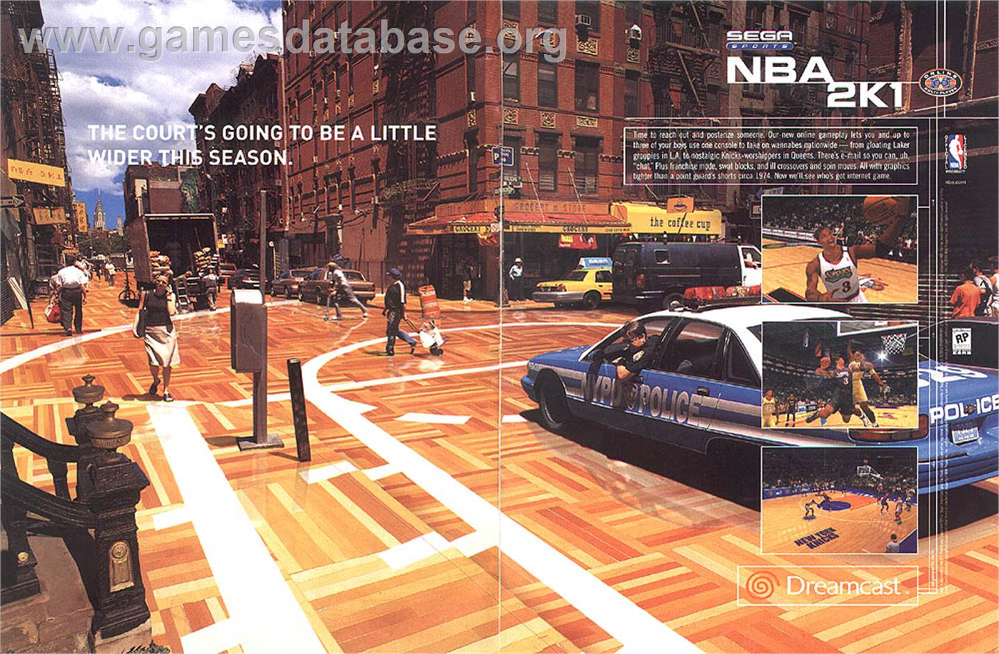 NBA 2K1 - Sega Dreamcast - Artwork - Advert