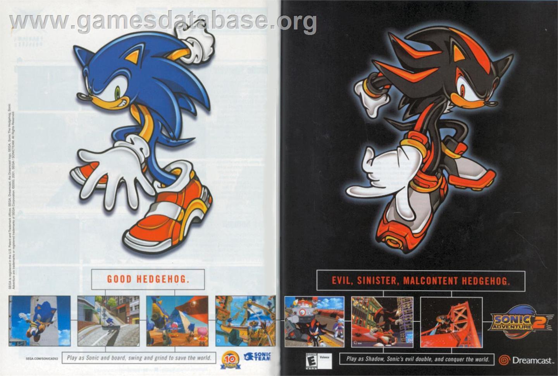 Sonic Adventure 2 Sega Dreamcast Artwork Advert