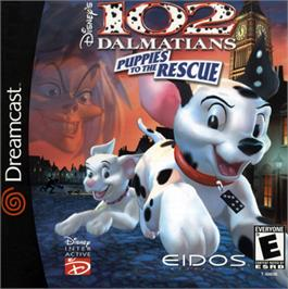 Box cover for 102 Dalmatians: Puppies to the Rescue on the Sega Dreamcast.