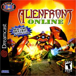 Box cover for Alien Front Online on the Sega Dreamcast.