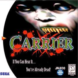 Box cover for Carrier on the Sega Dreamcast.