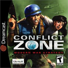 Box cover for Conflict Zone: Modern War Strategy on the Sega Dreamcast.