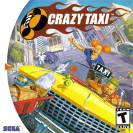 Box cover for Crazy Taxi on the Sega Dreamcast.