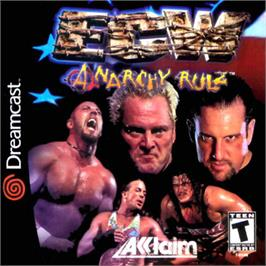 Box cover for ECW Anarchy Rulz on the Sega Dreamcast.