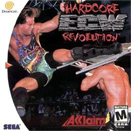 Box cover for ECW Hardcore Revolution on the Sega Dreamcast.
