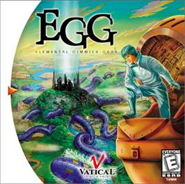 Box cover for EGG: Elemental Gimmick Gear on the Sega Dreamcast.