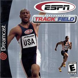 Box cover for ESPN International Track & Field on the Sega Dreamcast.
