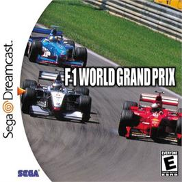Box cover for F1 World Grand Prix on the Sega Dreamcast.
