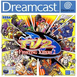 Box cover for Fighting Vipers 2 on the Sega Dreamcast.