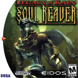 Box cover for Legacy of Kain: Soul Reaver on the Sega Dreamcast.