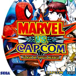 Box cover for Marvel Vs. Capcom: Clash of Super Heroes on the Sega Dreamcast.