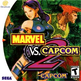 Box cover for Marvel vs. Capcom 2: New Age of Heroes on the Sega Dreamcast.