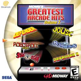 Box cover for Midway's Greatest Arcade Hits 1 on the Sega Dreamcast.