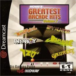 Box cover for Midway's Greatest Arcade Hits 2 on the Sega Dreamcast.