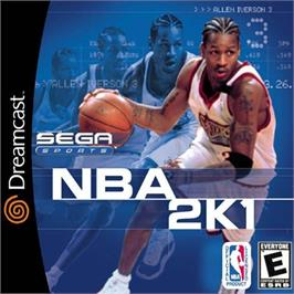 Box cover for NBA 2K1 on the Sega Dreamcast.