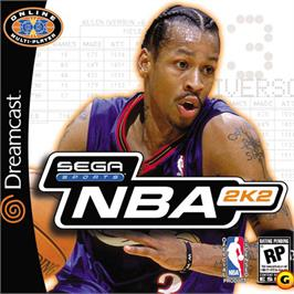 Box cover for NBA 2K2 on the Sega Dreamcast.