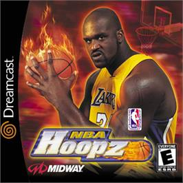 Box cover for NBA Hoopz on the Sega Dreamcast.