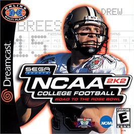 Box cover for NCAA College Football 2K2: Road to the Rose Bowl on the Sega Dreamcast.