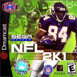 Box cover for NFL 2K1 on the Sega Dreamcast.