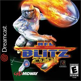 Box cover for NFL Blitz 2001 on the Sega Dreamcast.