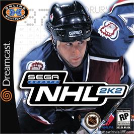 Box cover for NHL 2K2 on the Sega Dreamcast.