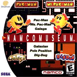 Box cover for Namco Museum on the Sega Dreamcast.