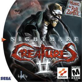 Box cover for Nightmare Creatures 2 on the Sega Dreamcast.