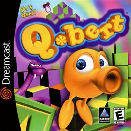 Box cover for Q*bert on the Sega Dreamcast.